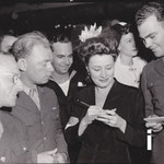 at The Hollywood Canteen  - Anne Baxter in background