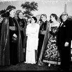 05.28.1952 with Rev. McGrucken, Archbishop McIntyre, Louella Parsons, Bishop Sheen and Louis B. Mayer