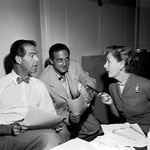 "with Fred MacMurray during the radio production of ""Bright Star"""