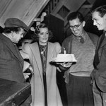 on the set of 'Joy Of Living' with director Tay Garnett (left) and Douglas Fairbanks Jr.(right) (Thanks to Christina)