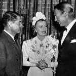 "05.02.1940 with Leo McCarey and Randolph Scott at the premiere of ""My Favorite Wife"""