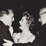 1957 with Jack Benny and husband Frank Griffin