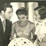 publicity - with Ricardo Cortez and Myrna Loy