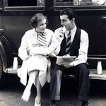 on the set - lunch break with Robert Taylor