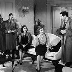 with Gail Patrick and unknow players - that scene is not in the film