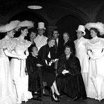 with Glynis Johns, Valerie Hobson, Jean Kent, Gloria Swanson, Michael Wilding, Montgomery Clift, Pat Dainton, Claudette Colbert, Richard Todd, Margaret Leighton
