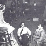 on set with director Leo McCarey and visitor Cary Grant