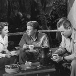 with Van Johnson and Ward Bond