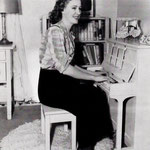 at home at Mary Frances' little piano