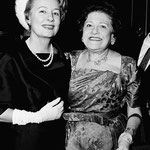 "1961 - with Louella Parsons at the party at the Four Seasons in New York, in honor of the publication of Louella's ""Memoirs"" in McCall's magazine"