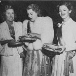 with Jeanette MacDonald and Myrna Loy at a Red Cross fund raising party.  The trio solicited subscriptions for the Red Cross.