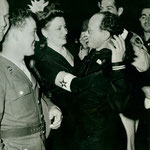 1942 dancing with a serviceman during the opening of The Hollywood Canteen