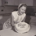 1956 - with cake for President Dwight Eisenhower's birthday