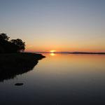 風連湖の夕日