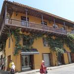 typische Häuser in Cartagena