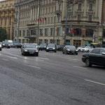 normaler Nachmittagsverkehr in Moskau