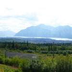 kilometer lange Gletscherzungen