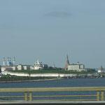 Der Kreml von Kasan - fotografiert von der Wolga-Brücke
