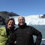 und dann sind wir am ersten Gletscher