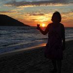 Sonnenuntergang am Strand von San Blas