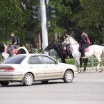 selbst Pferde sind hier Mitten in der Stadt