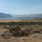 trockene Gegend, aber mit Bewässerung ist Landwirtschaft möglich
