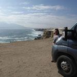 wir campen oberhalb der Steilküste