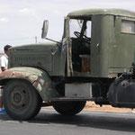 Im Niemandsland zwischen Mongolei und China – dieser LKW muss wohl zurück in die Mongolei