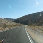 jetzt geht es endgültig hinein ind Death Valley