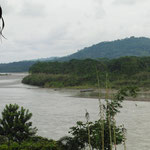 Blick vom Balkon auf den Rio Napi