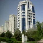 In Ashgabat muss jedes neue Haus mit Marmorplatten eingekleidet sein