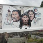 viele Wandmalereien in Chemainus zeigen die Dorfgeschichte