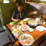 Mongolischer Hot Pot zum Abendessen