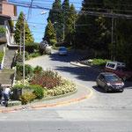 die Lombard Street, wir sind doch nicht in San Francisco ? - es kann sich ur um eine Kopie handeln
