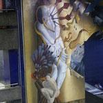 Wandbild in der Metro
