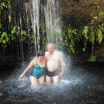 die Douche - ein Wasserfall mit 9 Grad