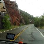 Bei Regen verlassen wir Sedona ...