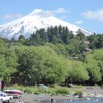 der Vulkan am Tag