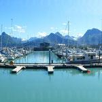 Panoramabild vom Hafen aus aufgenommen