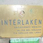 Schild des Hotel Interlaken in Pucon