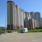 In Chengde stehen wir inmitten von Hochhäusern