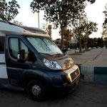 unser Standplatz zum Übernachten – ein Parkplatz