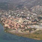Blick auf die alte Hauptstadt Mtskheka