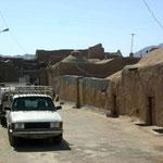 Dorf aus Lehmhäuser