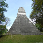 die Ruinen von Tikal ....