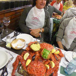 Am Abend essen wir die Kings Crab – e Guete