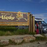 wir sind nach fast 40'000 km durch Amerika in Alaska angekommen