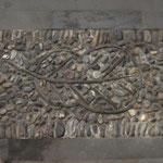 und Mosaik Stein Boden