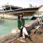 altes persisches Holzschiff – immer noch in Betrieb