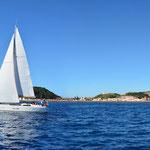 Yacht auf den Azoren